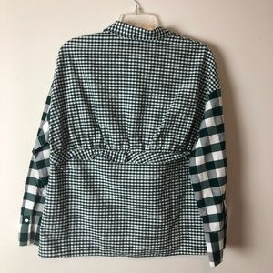 6ee290801922 Zara Tops - Zara Trafaluc Checkered Small Peplum Button Up